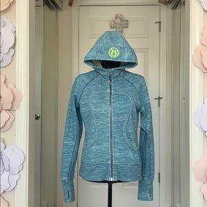 Lululemon Thermal Blue/Green Hoodie w Pockets 8